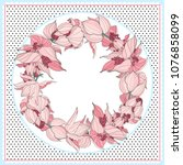 floral pattern  can use be for... | Shutterstock .eps vector #1076858099