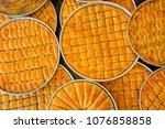 traditional turkish baklava... | Shutterstock . vector #1076858858
