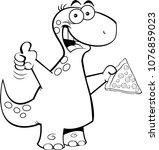 black and white illustration of ... | Shutterstock . vector #1076859023