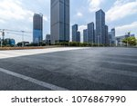 empty floor with modern... | Shutterstock . vector #1076867990