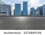 empty road with modern business ... | Shutterstock . vector #1076869196