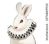 vector portrait of the white... | Shutterstock .eps vector #1076869910