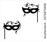 carnival  masquerade mask icon... | Shutterstock .eps vector #1076873600