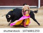 Bullfighter In Front Of...