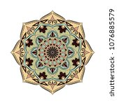 mandala. round ornament floral... | Shutterstock .eps vector #1076885579