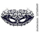 masks for a masquerade   vector ... | Shutterstock .eps vector #107689649