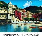 Colorful Italian Town. Vernazza ...