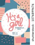 baby shower invitation. it's a... | Shutterstock .eps vector #1076899676