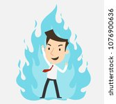 businessman burning energy ... | Shutterstock .eps vector #1076900636