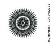 mandala. round ornament floral... | Shutterstock .eps vector #1076902193
