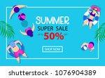 summer time hot sale... | Shutterstock .eps vector #1076904389
