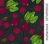 black chalk board. seamless... | Shutterstock .eps vector #1076905010