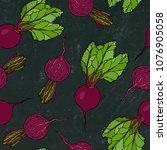 black chalk board. seamless... | Shutterstock .eps vector #1076905058