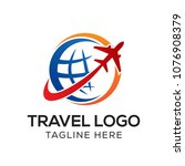 travel logo template  holiday... | Shutterstock .eps vector #1076908379