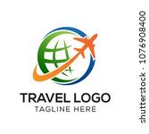 travel logo template  holiday... | Shutterstock .eps vector #1076908400