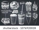 street food festival menu....   Shutterstock .eps vector #1076920028