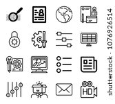 Set Of 16 Interface Outline...