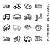 set of 16 transport outline... | Shutterstock .eps vector #1076926580