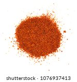pile of red paprika powder... | Shutterstock . vector #1076937413