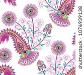 seamless bright pattern with... | Shutterstock .eps vector #1076939138