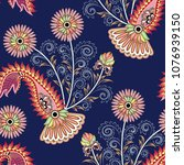 seamless pattern with bright... | Shutterstock .eps vector #1076939150