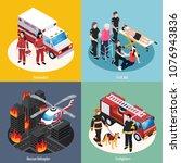 rescue team 2x2 design concept...   Shutterstock .eps vector #1076943836