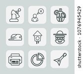 premium set of outline icons.... | Shutterstock .eps vector #1076945429