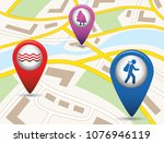 set of tourism services map... | Shutterstock .eps vector #1076946119