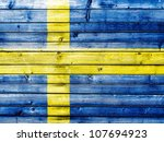 The Swedish Flag Painted On...