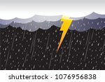 lightning storm  clouds and...   Shutterstock .eps vector #1076956838