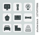 premium set of fill icons. such ... | Shutterstock .eps vector #1076959886