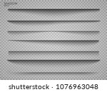 vector shadows isolated. page... | Shutterstock .eps vector #1076963048