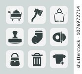 premium set of fill icons. such ... | Shutterstock .eps vector #1076972714