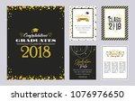graduation class of 2018... | Shutterstock .eps vector #1076976650