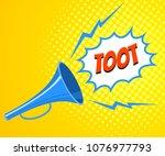 cartoon megaphone with speech... | Shutterstock .eps vector #1076977793