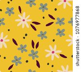 seamless vector floral pattern. ... | Shutterstock .eps vector #1076977868