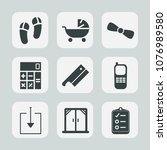 premium set of fill icons. such ...   Shutterstock .eps vector #1076989580