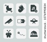 premium set of fill icons. such ... | Shutterstock .eps vector #1076990834