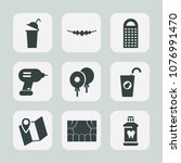 premium set of fill icons. such ... | Shutterstock .eps vector #1076991470