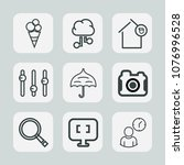 premium set of outline icons.... | Shutterstock .eps vector #1076996528