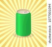 soda in a tin can   cute... | Shutterstock .eps vector #1077001094