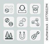 premium set of outline icons.... | Shutterstock .eps vector #1077002294
