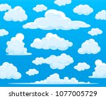 blue sky with clouds  vector | Shutterstock .eps vector #1077005729