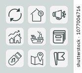 premium set of outline icons....   Shutterstock .eps vector #1077006716
