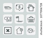 premium set of outline icons.... | Shutterstock .eps vector #1077006728