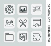 premium set of outline icons.... | Shutterstock .eps vector #1077009260