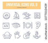 doodle vector universal generic ... | Shutterstock .eps vector #1077010439