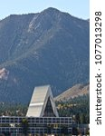 Small photo of The Air Force Academy Chapel makes a unique mark on the landscape in Colorado Springs, Colorado.