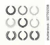 laurel wreaths | Shutterstock .eps vector #107701538
