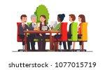 directors board  executive... | Shutterstock .eps vector #1077015719